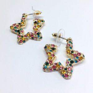 NWOT Anthro BaubleBar Multicolor Crystal Earrings
